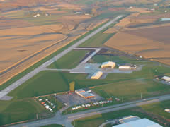 Aerial photo of KGGI (Grinnell Regional Airport)