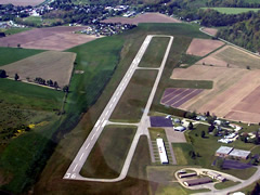 Aerial photo of KHTF (Hornell Municipal Airport)