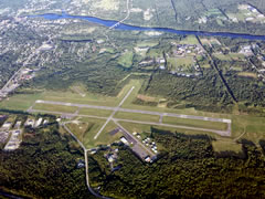 Aerial photo of KWVL (Waterville Robert LaFleur Airport)