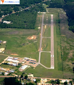 Aerial photo of KCDH (Harrell Field Airport)