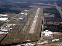 Aerial photo of KSTF (George M Bryan Airport)