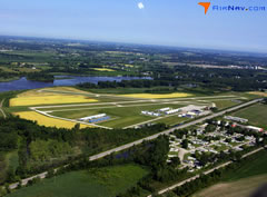 Aerial photo of 3CM (James Clements Municipal Airport)