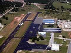 Aerial photo of KBMQ (Burnet Municipal Airport-Kate Craddock Field)