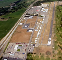 Aerial photo of KRXE (Rexburg-Madison County Airport)