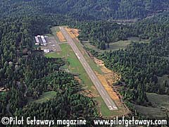 Aerial photo of O28 (Ells Field-Willits Municipal Airport)