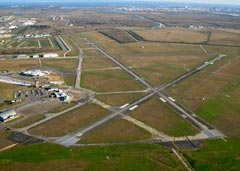 Aerial photo of KBPT (Jack Brooks Regional Airport)