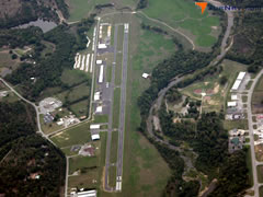Aerial photo of KCCA (Clinton Municipal Airport)