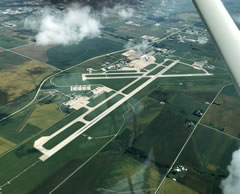 Aerial photo of KCID (The Eastern Iowa Airport)