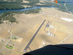 Aerial photo of KTHM (Thompson Falls Airport)