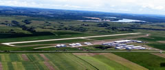 Aerial photo of Y19 (Mandan Municipal Airport)