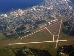 Aerial photo of KMNM (Menominee-Marinette Twin County Airport)