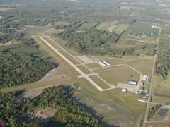Aerial photo of KLWA (South Haven Area Regional Airport)