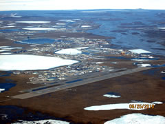 Aerial photo of PASC (Deadhorse Airport)