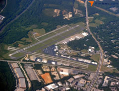 Aerial photo of KFTY (Fulton County Executive Airport/Charlie Brown Field)