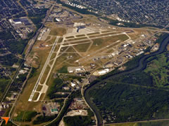 Aerial photo of KROC (Greater Rochester International Airport)