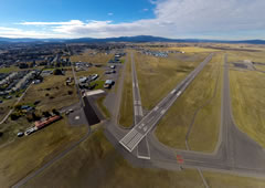 Aerial photo of KCOE (Coeur d'Alene Airport - Pappy Boyington Field)