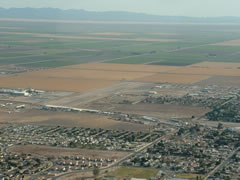 Aerial photo of KBWC (Brawley Municipal Airport)