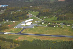 Aerial photo of KZEF (Elkin Municipal Airport)