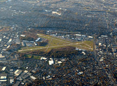 Aerial photo of KTEB (Teterboro Airport)