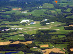 Aerial photo of KZZV (Zanesville Municipal Airport)