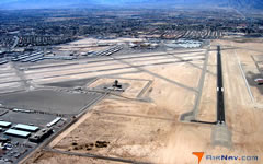 Aerial photo of KVGT (North Las Vegas Airport)