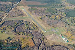 Aerial photo of KCQM (Cook Municipal Airport)