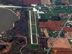 Aerial photo of KHHG (Huntington Municipal Airport)