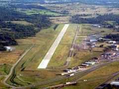 Aerial photo of KMLC (Mc Alester Regional Airport)