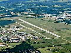 Aerial photo of KSNL (Shawnee Regional Airport)