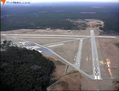 Aerial photo of KLHW (Wright Army Airfield (Fort Stewart)/Midcoast Regional Airport)