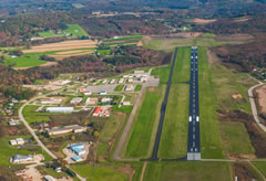 Aerial photo of KIDI (Indiana County Airport (Jimmy Stewart Field))