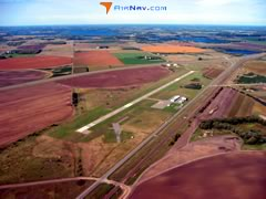 Aerial photo of 16D (Perham Municipal Airport)