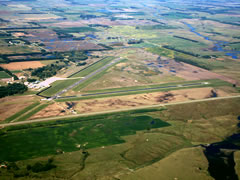 Aerial photo of KMHE (Mitchell Municipal Airport)