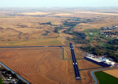 Aerial photo of KSDY (Sidney-Richland Regional Airport)