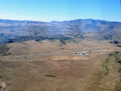 Aerial photo of KCFT (Greenlee County Airport)