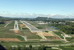 Aerial photo of KAVL (Asheville Regional Airport)