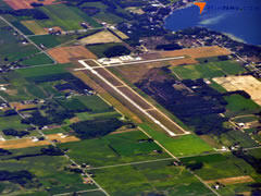 Aerial photo of KFFX (Fremont Municipal Airport)