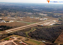 Aerial photo of KLVJ (Pearland Regional Airport)