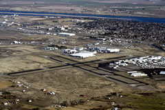Aerial photo of KRLD (Richland Airport)