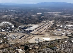 Aerial photo of KTUS (Tucson International Airport)