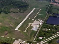 Aerial photo of KMOP (Mount Pleasant Municipal Airport)