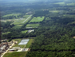 Aerial photo of 90F (Broken Bow Airport)