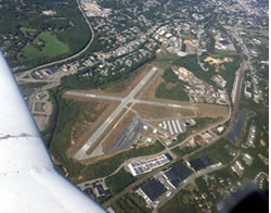 Aerial photo of KFIT (Fitchburg Municipal Airport)