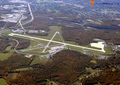 Aerial photo of KJST (John Murtha Johnstown-Cambria County Airport)