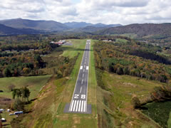 Aerial photo of KGEV (Ashe County Airport)