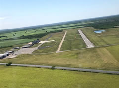 Aerial photo of KEBG (South Texas International Airport at Edinburg)