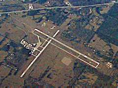 Aerial photo of KLFK (Angelina County Airport)