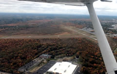 Aerial photo of KOWD (Norwood Memorial Airport)