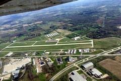 Aerial photo of KOZW (Livingston County Spencer J Hardy Airport)