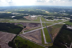 Aerial photo of KLBT (Lumberton Municipal Airport)